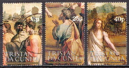 Tristan Da Cunha Used Set And SS - Religious