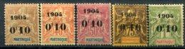 Martinique        54/58 * - Unused Stamps