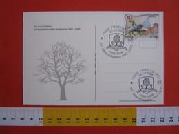 A.15 ITALIA ANNULLO 2006 FOBELLO VERCELLI VALSESIA 50 ANNI PRO LOCO ALBERO PIANTA STEMMA ARALDICA 1956 COSTUMI - Alberi