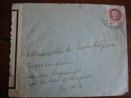 Guerre 39.45 Lettre Ouverture Censure   Controle Militaire - WW II