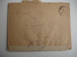 Lettre Ouverture Censure Autorite Militaire  Icd De Tresor Et Postes 90 Pour Morez - Marcophilie (Lettres)