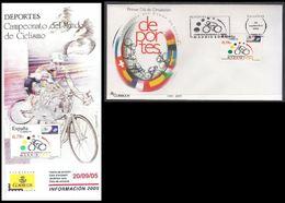 ESPAGNE SPANIEN SPAIN ESPAÑA 2005 WOLD CYCLING CHAMPION CICLISMO. MADRID FDC ED 4184 YT 3776 MI 4071 SG 4131 SC 3372 - FDC