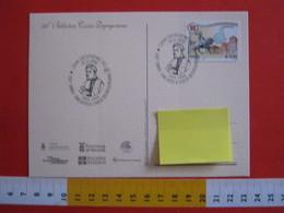 A.15 ITALIA ANNULLO 2006 CRESCENTINO VERCELLI CAV. DE GREGORY 160 ANNI BIBLIOTECA CIVICA DEGREGORIANA CAVALIERE ILLUSTRE - Celebrità