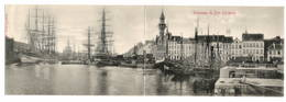 BELGIQUE - OSTENDE Panorama Du Port, Carte Double Pionnière - Oostende