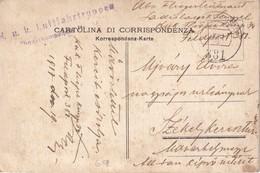 AUTRICHE 1917 CARTE EN FELDPOST K.U.K. LUFTFAHRTRUPPE  FLIEGERKOMPAGNIE - Cartas