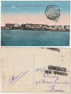 TARANTO - PANORAMA - CORSO VITTORIO EMANUELE DA MAR GRANDE - VERIFICATO PER CENSURA - VIAGG. 1917 -45651- - Taranto