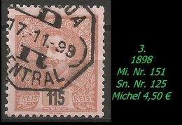 1893 - Mi. Nr. 151 - 1892-1898 : D.Carlos I