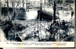 Guerre 14-18 Vie Au Front Campement De Fortune Etabli Par Nos Artilleurs Et Que Les Pluies Ont Transforme En Village Lac - Guerre 1914-18