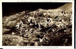 Guerre 14-18 Vie Au Front L Aumonier Et Les Brancardiers Cherchent Les Blesses La Nuit - Guerre 1914-18
