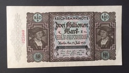 Reichsbanknote 2 Milionen Mark 1923 Erh. II - [ 3] 1918-1933 : República De Weimar