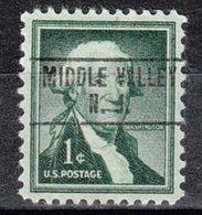 USA Precancel Vorausentwertung Preo, Locals New Jersey, Middle Valley 748 - Vereinigte Staaten