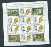 ESPAGNE SPANIEN SPAGNA SPAIN ESPAÑA 2001 M/S KING FOOTBALL CUP USED ED HB3805 YT F3375 MI B-3641 SG MS3759 SC SH3106 - 1931-Today: 2nd Rep - ... Juan Carlos I