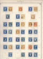 VOSGES Belle Collection De GC (65 Dont 1 Remp.AL ) Et 44 Pc Cote Pothion (s. Lettre) 7750 Eu - Marcophilie (Timbres Détachés)