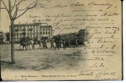 Dpt 42 St-Etienne Place Carnot Un Jour De Revue Animee 1903 EVT BE Etat D Usage - France