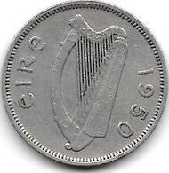 *ireland  6 Pence  1950 Km 13a   Vf+ - Irlanda