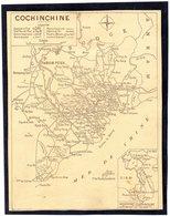 Carte Géographique De COCHINCHINE  - Didot - Bottin 1936. - Landkarten