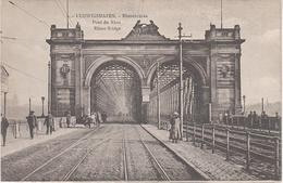 AK Ludwigshafen Rhein Rheinbrücke Eisenbahn Brücke Pont Du Rhin Rhine Bridge A Mannheim Lindenhof Schwetzingerstadt - Ludwigshafen