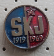 50 Years Of The Communist Party Of Yugoslavia Communism Red Star Yugoslavia Pin - Associations