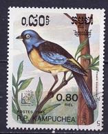Kampuchea - Cambodge 1985 Y&T N°571 - Michel N°692 (o) - 80c Thraupis  Bonariensis - Kampuchea