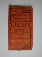 Ancien Guide Et Plan De La Ville De Vichy Par Max Mabyre,trés Intéréssant. - Cartes Routières