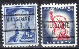 USA Precancel Vorausentwertung Preo, Locals New Jersey, Millstone 804, 2 Diff. - United States