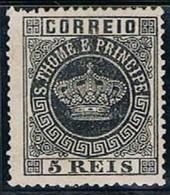 S. Tomé, 1870/7, # 1 Dent. 13 1/2, MNG - St. Thomas & Prince