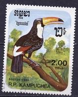 Kampuchea - Cambodge 1985 Y&T N°574 - Michel N°695 (o) - 2,00r Ramphastos Toco - Kampuchea