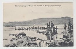 Congo Belge  Régates De Pagayeurs Sango Dans Le Rapide De Mobaye (Moyen Oubangi) - Belgisch-Congo - Varia