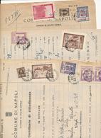 1947 NAPOLI 3 DOCUMENTI CON ERINNOFILI CROCE AZZURRA S GIORGIO PRO VITTIME GUERRA. FIRENZE.MONTECASSINO LIVORNO - Mozambico