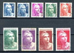 France   Y&T   725 - 733   Obl    ---     Parfait état... - 1945-54 Marianne De Gandon
