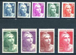 France   Y&T   725 - 733   XX    ---     Impeccables... - 1945-54 Marianne De Gandon
