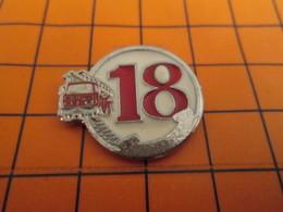 420 Pin's Pins / Belle Qualité & Rare / THEME POMPIERS : LE 18 TELEPHONE CAMION ROUGE - Brandweerman
