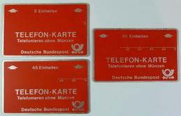 GERMANY - L&G - Landis & Gyr - Frankfurt - Test / Trial Set Of 3 - 5, 45 & 92 - Mint / Used - T-Series : Tests