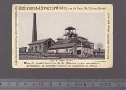Chromo Fin XIXè / Exbrayat Rivoirard, St-Etienne Loire, Puits Jabin, Charbons De Forge, Photo 1880 - Chromos