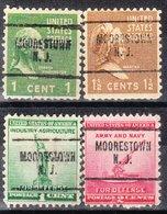 USA Precancel Vorausentwertung Preo, Locals New Jersey, Moorestown 704, 4 Diff. - Vereinigte Staaten