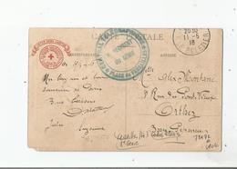 VERSAILLES (78) CARTE AVEC CACHET MILITAIRE CENTRAL TELEGRAPHIQUE DU 8 E REGIMENT DU GENIE PLACE DE VERSAILLES 1916 - Postmark Collection (Covers)