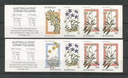 Australia 1986 Alpine Wildflowers Booklet Set Y.T. C 969I+969II ** - Markenheftchen