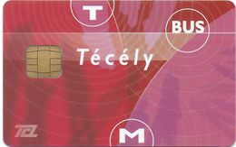 CARTE A PUCE CHIP CARD TRANSPORT METRO AUTOBUS TRAMWAY TCL LYON  69 RHONE - Autres