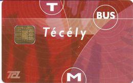 CARTE A PUCE CHIP CARD TRANSPORT METRO AUTOBUS TRAMWAY TCL LYON  69 RHONE AUTRE PUCE - Autres