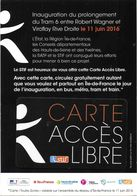 CARTE A PUCE CHIP CARD TRANSPORT CARTE ACCÈS LIBRE TRAMWAY INAUGURATION LIGNE TRAM 6 11/06/2016 PARIS 75 SEINE - Autres