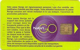 CARTE A PUCE CHIP CARD TRANSPORT NAVIGO INTÉGRALE AUTRE PUCE STIF RATP PARIS 75 SEINE - Autres