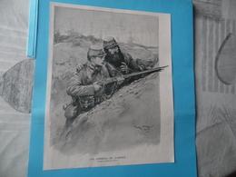 "GUERRE DE 1914-1918  -  ""LES CONSEILS DE L'ANCIEN""  - Dessin De GEORGES SCOTT - Dokumente"