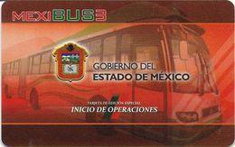 CARTE TRANSPORT TRAMWAY METRO AUTOBUS MEXIBUS 3 MEXIQUE  LIGNE 3 - Biglietti Di Trasporto