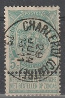COB N° 56  Oblitération CHARLEROI (CENTRE) - 1893-1800 Fijne Baard