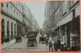 CARTE TOUT PARIS - RUE D' AMSTERDAM VIII Et IXème Arrondissements - SCAN RECTO/VERSO-13 - Arrondissement: 08