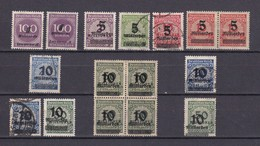 Deutsches Reich - 1923 - Michel Nr. 331/336 - Gest./Postfrisch/Ungebr. - 60 Euro - Germany