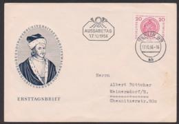 Universität Siegel Der Uni, Hinricus Rubnow Germany DDR 543 Greifswald 500 Jahre - FDC: Buste