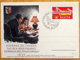 "Schweiz Suisse PJ 1953: CPI ""Philatelistes"" Zu 314 Mi 586 Yv 537 O GENÈVE 6.XII.1953 JOURNÉE DU TIMBRE  (Zu CHF 14.00) - Suisse"