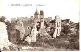 Dpt 55 Dombasle En Argonne Ses Ruines, Vue Du Village Guerre 14-18 - France
