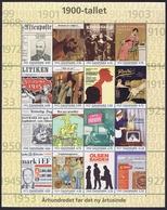 Denmark 2000;  20th Century; Danish History Souvenir Sheet.  MNH (**). - Ongebruikt